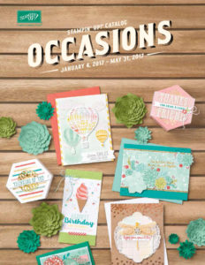 Stampin' Up! Occasions Catalog 2017 at WildWestPaperArts.com
