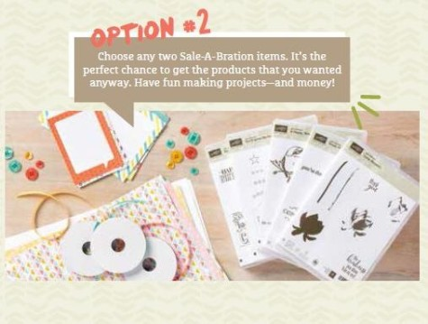 Sale-A-Bration 2015 Choose your reward Option 2 at WildWestPaperArts.com