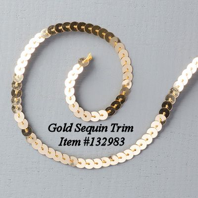 Gold Sequin Trim Item #132983