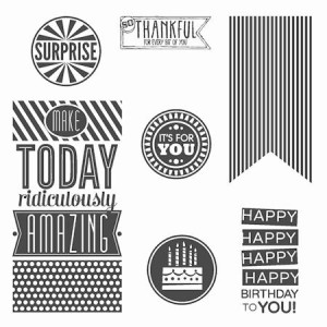 Amazing Birthday Clear Mount Stamp Set #134228