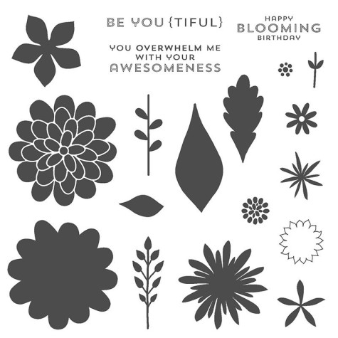 Flower Patch Polymer Stamp Set#134207