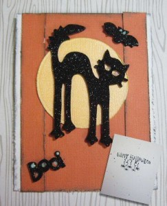 Wild West Paper Ats Scary Black Cat by Janell Ray