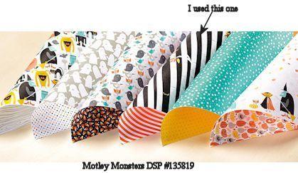 Wild West Paper Arts Motley Monsters DSP #135819