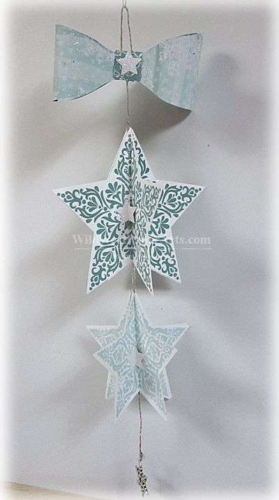 Bright & Beautiful Bow Ornament WILD WEST PAPER ARTS