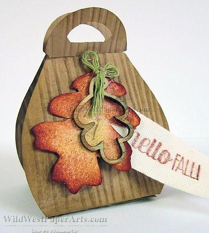 Wild West Paper Arts Autumn Wooden Treat Holder