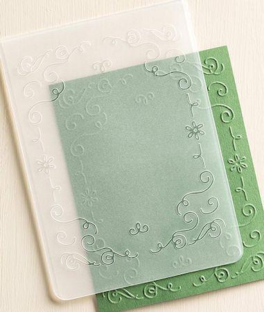 Filigree Frames Textured Impressions Embossing Folder #135818