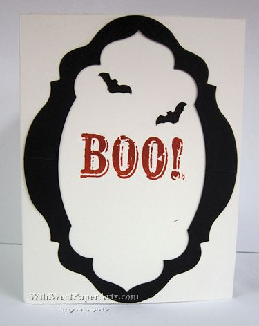 Happy Batty Halloween by Rae Harper at WildWestPaperArts.com