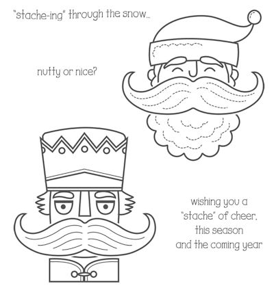 Stampin' Up! Santa Stache Clear Mount Stamp Set #135035 at Wild West Paper ArtsSanta Stache #135035