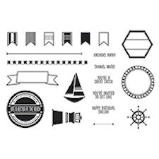 Settin' Sail Photopolymer Stamp Set #133453 at Wild West Paper Arts