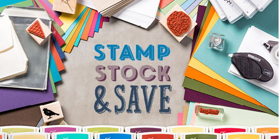 Stamp stock and save banner