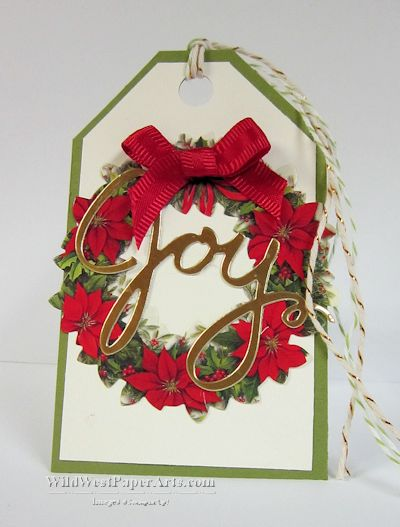 Wild West Paper Arts Wonderful Quick Wreath Tag - 1