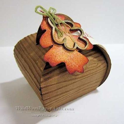 Curvy Keepsake Wooden Box by Wild West Paper Arts