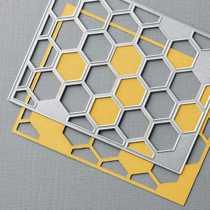 Hexagon Hive Thinlet #132965 at WildWestPaperArts.com