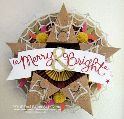 Holiday Leftovers Amazing Wreath from Wild West Paper ARts