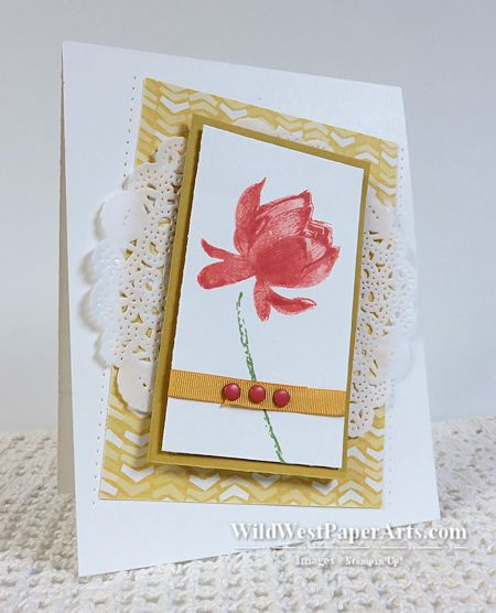 Lovely Lotus Blossom at WildWestPaperArts.com