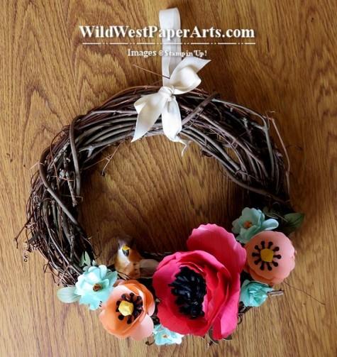 Celebrate pring Wreath at WildWestPaperArts.com