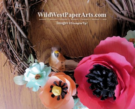 Celebrate Spring Wreath at WildWestPaperArts.com