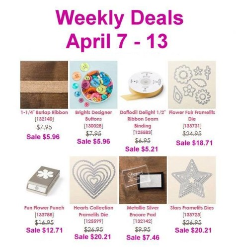 Weekly Deals 4-7-2015 at WildWestPaperArts.com