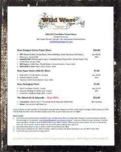 2016-2017 AC Paper Shares at WildWestPaperArts.com