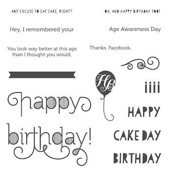 Age Awareness Stamp Set 135381 at WildWesPaperArts.com