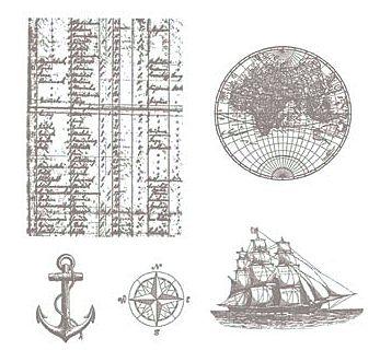 The Open Sea Stamp Set #123032 at WildWestPaperArts.com