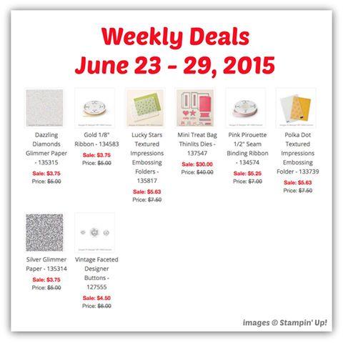 Weekly Deals June 23-29, 2015 at WildWestPaperArts.com