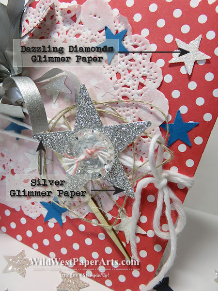 Glimmer Glamour WildWestPick 2015-06-29 Close Up at WildWestPaperArts.com