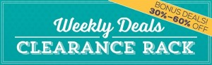 Clearance Rack Weekly Deals Special at WildWestPaperArts.com