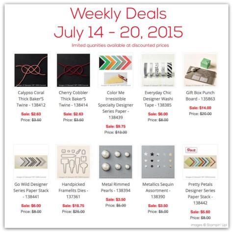 Weekly Deals July 14, 2015 at WildWestPaperArts.com