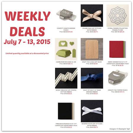 Weekly Deals June 7-13 2015 at WildWestPaperArts.com
