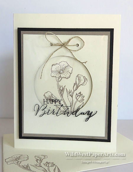 Happy Butterfly Basics Birthday at WildWestPaperArts.com