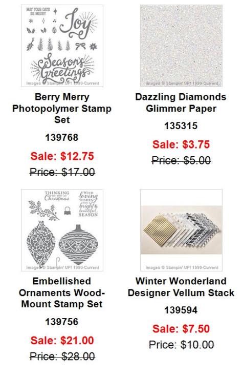 Weekly Deals Novemb er 24-30, 2015-11-24  at WildWestPaperArts.com