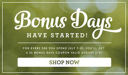 Stampin' Up! Bonus Days are here at WildWestPaperArts.com