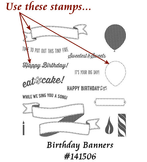 Birthday Banners 141506 PPA314 at WildWestPaperArts.com