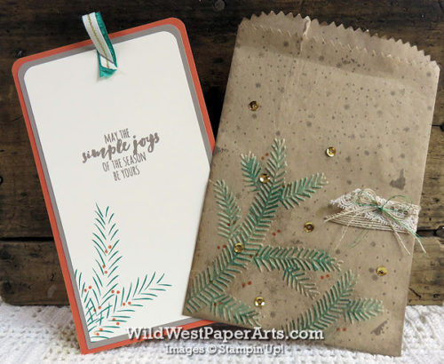 Brown Paper Wrapped Pine Boughs for PPA323 at WildWestPaperArts.com