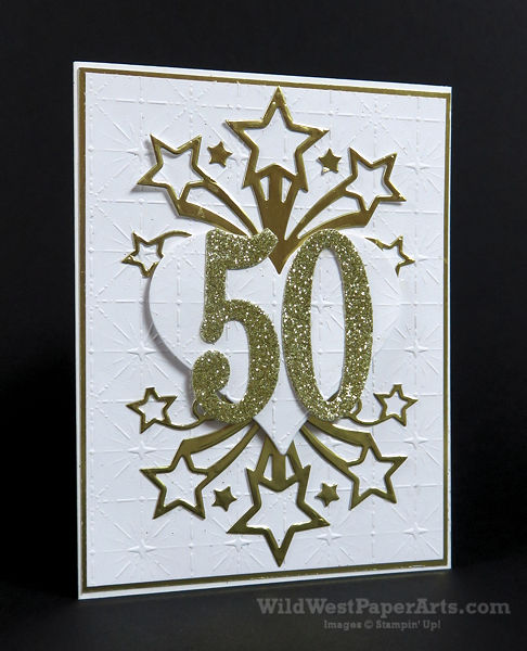 Fifty Shining Years for December at WildWestPaperArts.com
