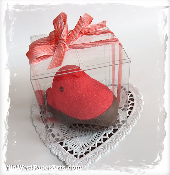 Strawberry Peep Treat Box at Wild West PaperArts
