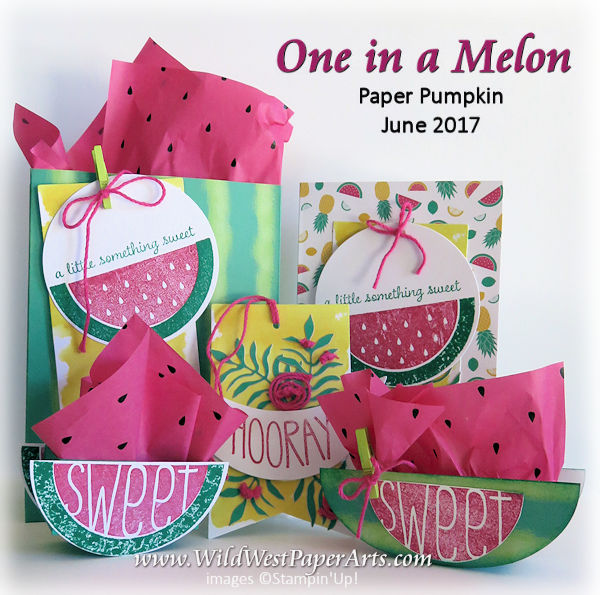 Juicy Watermelon Fun at WildWestPaperArts.com