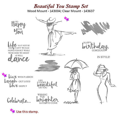 Beautiful You Stamp Set for Beautiful Gift of You at WildWestPaperArts.com