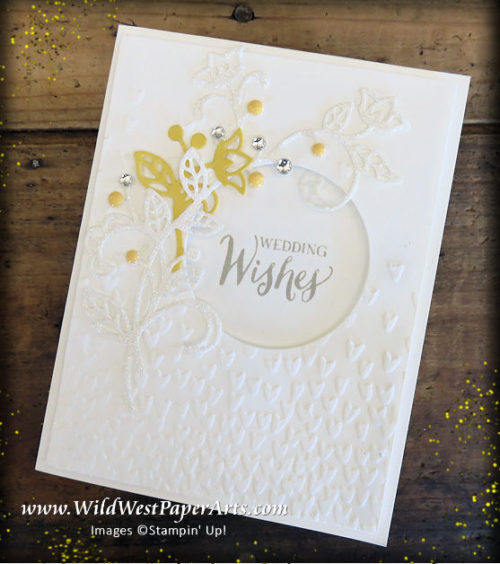 Wedding Wishes for K&M at WildWestPaperArts.com
