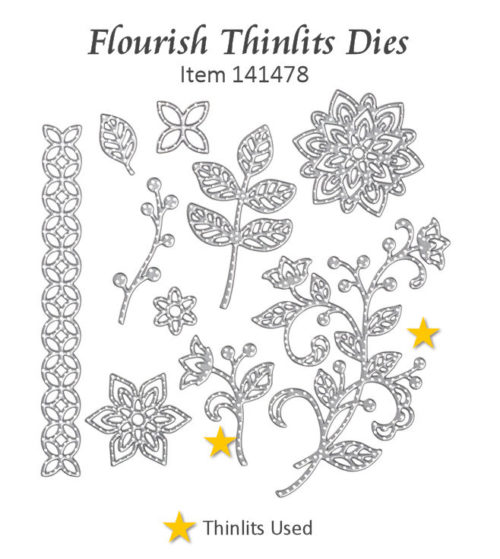 Flourish Thinlits Dies at WildWestPaperArts.com