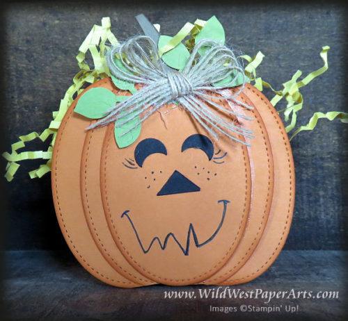 Teacher's Jack-o-lantern basket at WildWestPaperArts.com