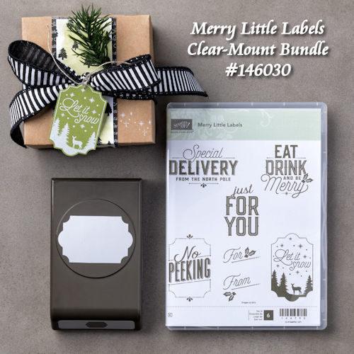 Merry Little Labels Clear Mount Bundle #146030 at WildWestPaperArts.com