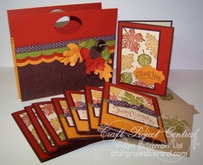 Fall Accordian Folder with Cards