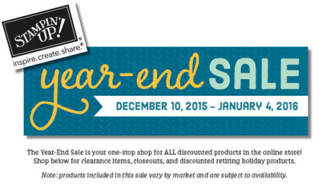 Stampin' Up! 2015 Year End Sale at WildWestPaperArts.com