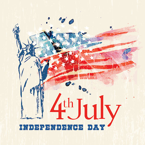 Happy Independence Day at WildWestPaperArts.comt