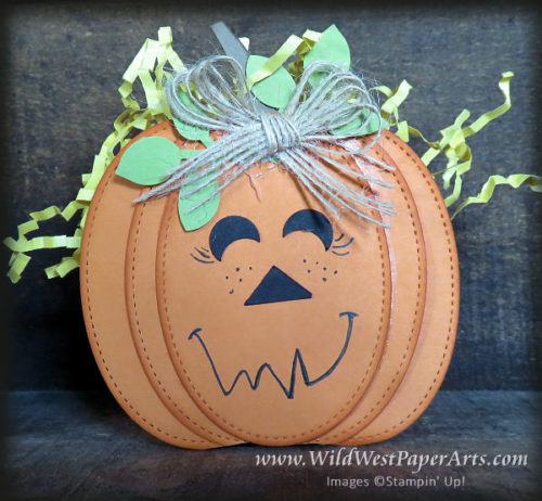 Teacher's Jack-o-lantern basket at WildWestPaperArts.com