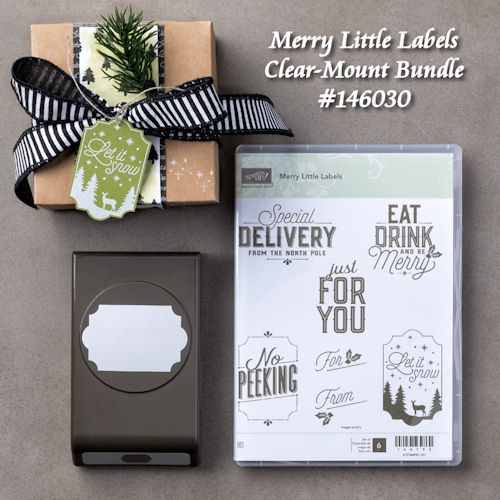 Merry Little Labels Clear Mount Bundle #146030 at WildWestPaperArts.com