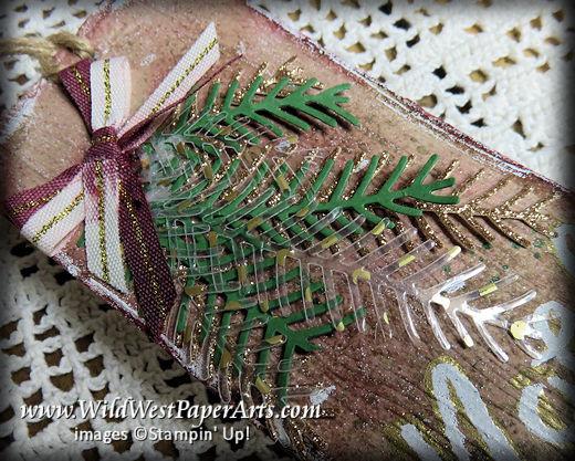 Pretty Sparkling Pines at WildWestPaperArts.com