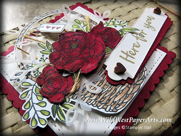 Blended Brusho Blossoms at WildWestPaperArts.com